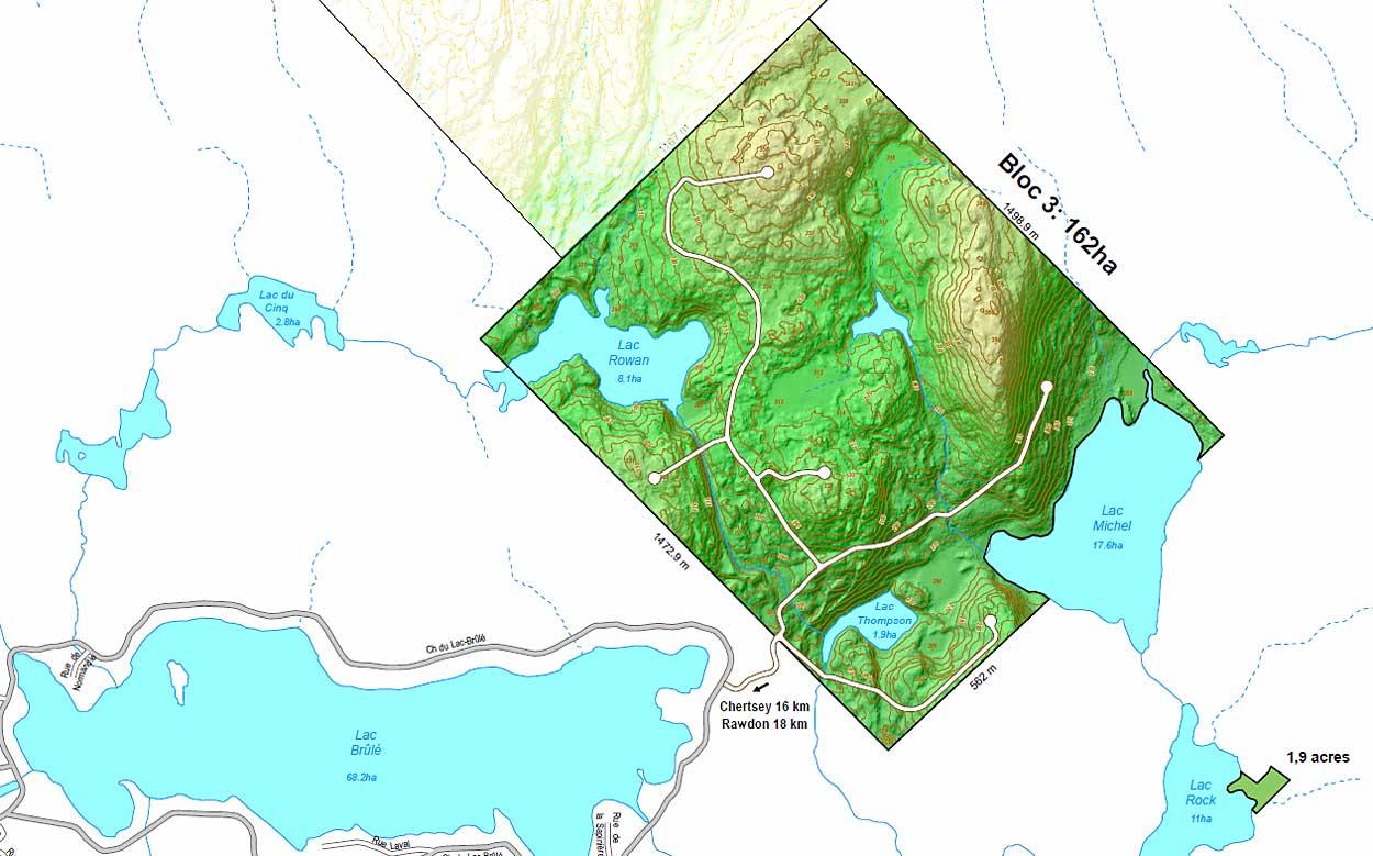 Domaine à vendre Chertsey Lanaudière Québec